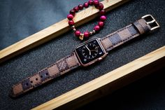 Damier Ebene 2 Louis Vuitton Authentic Leather Watch strap for Apple Watches #applewatchedition #iphone #iphoneonly #iphone6plus #iphonedaily #iphoneology #instatime #instawatches #dailywatch #iphoneography #womw #watches #wornandwound