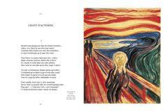 Double page extraite des Fleurs du Mal de Baudelaire illustrée par la peinture symboliste et décadente, Editions Diane de Selliers.