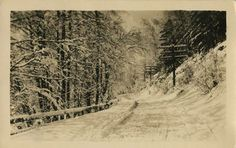 From our postcard collection: snowy road in Eden Park, Cincinnati, Ohio, circa 1918.