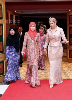 My 300th post!  Her Royal Highness Crown Princess Sarah with Her Royal Highness Princess Maxima at the Empire Hotel and Country Club for the Appreciation Dinner.