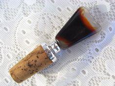 Vintage Flaschen - Flaschenkorken Stöpsel Stopfen Halbedelstein - ein Designerstück von artdecoundso bei DaWanda