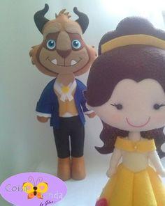A Bela e a Fera Princesa Disney Feltro Feito a Mão Felt