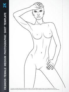 Female Fashiondrawing body- Basic Female Upper Body for Fashion Beachwear, Accessories or Tops Design, includesfashion female upper body