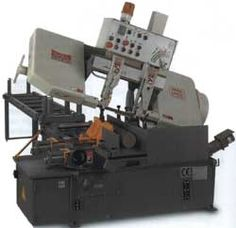 Dake-Johnson Automatic Bandsaw  • Automatic multi-indexing feed system.  • Piece counter with auto-shutoff.  • PLC controlled.  • Variable hydraulic feed rate.  • Optional bundling vertical vise. #machine #tool