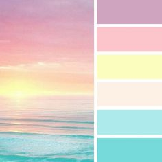 Pretty sea color palette,Pastel color palette ,spring color scheme #color #sea