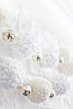Giant Pom-Pom Garland Tutorial ~ beautiful, would work for any occasion!