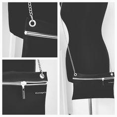 Tasche aus Kunstleder mit Kette zum Umhängen Bags, Fashion, Artificial Leather, Chain, Handbags, Moda, Fashion Styles, Taschen, Purse
