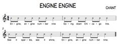 Beth's Music Notes: Engine Engine Number Nine...great activity for teaching ta/ti ti rhythm