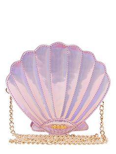 Pink Shell Cross Body Bag - Available for Preorder - June Pink Shoulder Bags, Crossbody Shoulder Bag, Shoulder Handbags, Crossbody Bag, Pink Handbags, Purses And Handbags, Metallic Handbags, Vintage Handbags, Novelty Bags