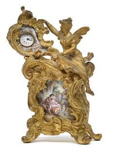 HISTORISM PERIOD ENAMEL CLOCK, VIENNA 1880