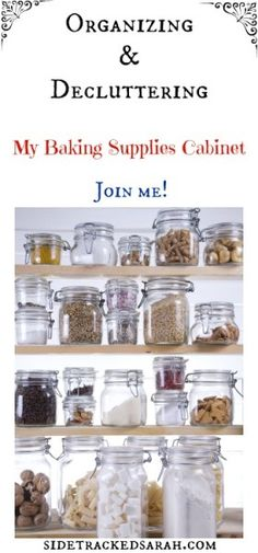 Join me as I get organized in the 52 week Get Organized Challenge! This week we focus on organizing our baking supplies cabinet. I'm so excited how nice it looks!