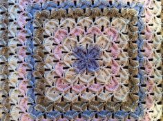 Crocheted baby blanket, pattern is known as Bavarian rug by Macarena Smartt
