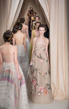 runwayandbeauty:  Finale at Valentino Haute Couture Spring 2015.