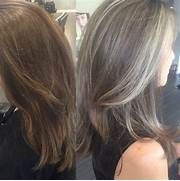 Pictures: Best Highlights To Cover Gray Hair, - BLACK HAIRSTLE PICTURE