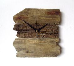 Driftwood Clock  Wall Beach Clock  Recycled Wood  by NaturalClocks, £22.00
