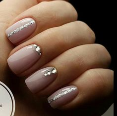 130 luxury nail art trends ideas you will love now -page 11 Gem Nails, Pink Nails, Hair And Nails, Fancy Nails, Cute Nails, Pretty Nails, Bride Nails, Wedding Nails, Nagellack Design