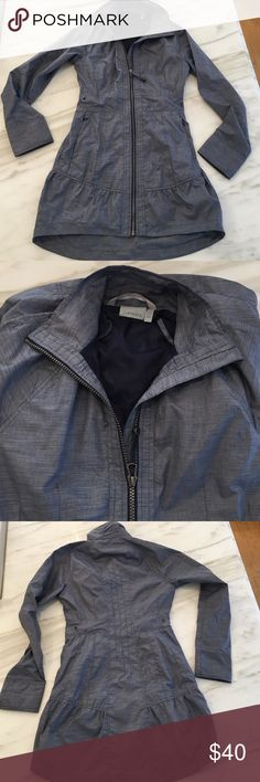 Athleta rain jacket Super cute Athleta rain jacket.  In excellent condition, only worn a few times.  It's pretty lightweight so good to throw on when heading to yoga or Pilaties.   Please note it's an XXS. Athleta Other
