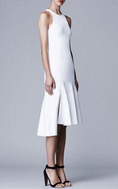 White Racer Dress by Josh Goot for Preorder on Moda Operandi