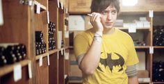 Julian Casablancas in Claude's wine cellar...Nyc '03. (Cody Smyth  Photographer, @CodeSmyth twitter)