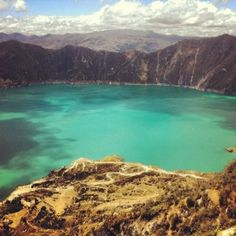 Quilotoa Lagoon, Ecuador - photo by @davestravel