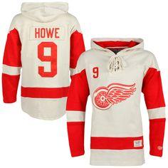 ... Hoodie Mens Detroit Red Wings Gordie Howe Old Time Hockey White Alumni  Player Vintage Lacer Name and ... 1a198d484