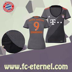 fc-eternel:Maillot Bayern Munich Femme (LEWANDOWSKI 9) Exterieur 2016/2017 Thai Edition Maillot Bayern Munich, Lewandowski, Football, Wetsuit, Sports, Baby Born, Woman, Soccer, Scuba Wetsuit