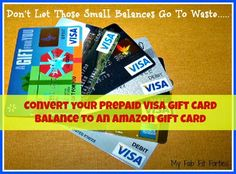 My Fab Fit Forties: How to Convert a Prepaid Visa Gift Card Balance to Shop on Amazon!