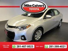 2015 Toyota Corolla S 26k miles $16,880 26816 miles 281-407-9523  #Toyota #Corolla #used #cars #MikeCalvertToyota #Houston #TX #tapcars