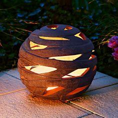 Windlicht Terracotta-Kugel Saturn, groß Gourds, Clay Art, Terracotta, Vases, Stained Glass, Lanterns, Cement, Dolls, Ceramics Ideas