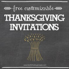 Use one of these awesome free Thanksgiving Dinner Invitations to send to your family and guests for your Thanksgiving party.