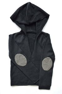 Image of tannhaüser x quirky collective | limited edition charcoal cashmere hoodie