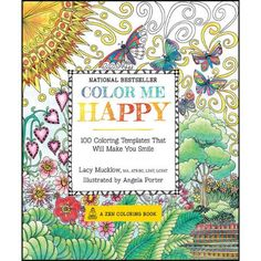 Color Me Happy Adult Coloring Book - Herrschners