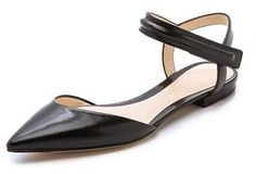 3.1 Phillip Lim Martini Ankle Strap Flats on shopstyle.com