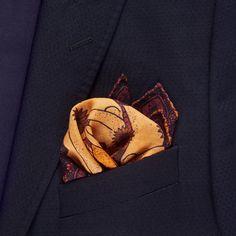 Tides | Wool & Silk Pocket Square – R. Culturi