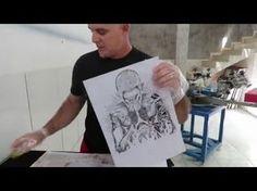 FOTOLITO - Como fazer usando papel e óleo - ÓLEOLITO - YouTube