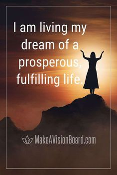 I am living my dream of a prosperous fulfilling life - See our full list of prosperity affirmations for wealth and abundance. Make a vision board and create a better life! List Of Affirmations, Prosperity Affirmations, Law Of Attraction Affirmations, Positive Affirmations, Bible Topics, Making A Vision Board, Negative Thinking, Negative Self Talk, Old Quotes