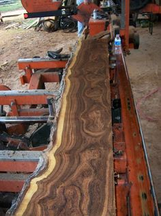 I bought a piece of natural edge mesquite wood similar to this...working on a table
