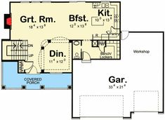New American House Plan with Open Concept Living - 62465DJ | Architectural Designs - House Plans