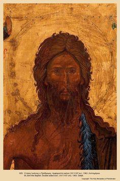 View album on Yandex. Christ Pantocrator, Lives Of The Saints, Russian Icons, Biblical Art, Byzantine Art, John The Baptist, Fashion Painting, Orthodox Icons, Greece