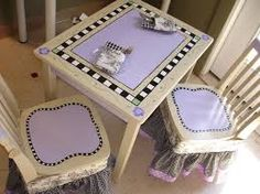 childrens painted table and chairs - Google Search