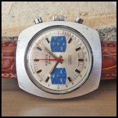 1970's RENIS Genève Vintage Chronograph 42mm Watch; 17j HW Valjoux Cal. 7733