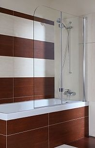 Parawan nawannowy 120 Omnires QP97B szkło przejrzyste Bathroom Lighting, Divider, Bathtub, Mirror, House, Furniture, Home Decor, Bathroom Light Fittings, Standing Bath