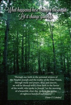 LDS YW Sacred Grove First Vision handout