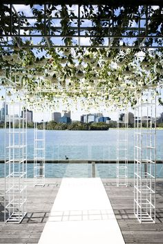 Ah! I love this awning, it frames the water views beautifully. Would you have this at your wedding? The Style and Co team are legends!