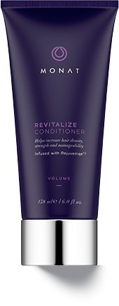 A gentle volumizing conditioner for fine, limp and lifeless hair that penetrates and nurtures the scalp while helping boost natural growth, improve follicle strength, and reduce hair thinning. Delivers weightless moisture and vital nutrients to help plump and energize hair from roots to ends. Fine, flat hair is left touchably soft, shiny, and youthful. Safe to use on colored or chemically treated hair and extensions. www.hairbymonat.com Retail $47 VIP $40 MP $33