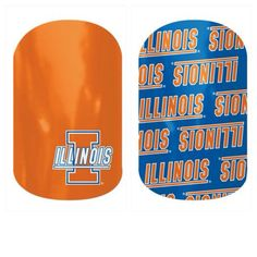 University of Illinois Fighting ILLINI  Fans ......... Show off your college team pride with Jamberry nail wraps!  Available at:  www.kerryarnold.jamberrynails.net - check them out in the Collegiate section!