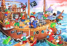 The House of Puzzles Jack Le Pirate, Wheres Wally, Puzzle Art, Hidden Pictures, Everyday Activities, Toddler Preschool, Cartoon Art, Puzzles, Images