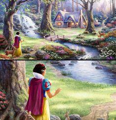 Snow White - Thomas Kinkade Disney Dreams Collection We meet him in Gatlinburg, TN