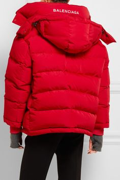 Balenciaga - Oversized Quilted Shell Jacket - Red - FR42
