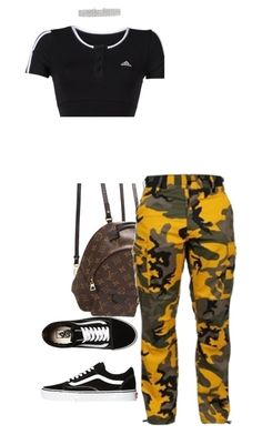 """"" by sadgirllmaya ❤ liked on Polyvore featuring Louis Vuitton, adidas and Vans"